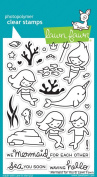 Mermaid For You Lawn Fawn Clear Acrylic Stamps