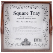 Sudberry House Small Square Tray, 25cm x 25cm , Mahogany