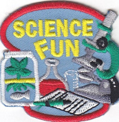 """SCIENCE FUN"" - IRON ON PATCH APPLIQUE-School, Learning, Chemistry, Scientist"