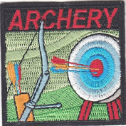 """""""ARCHERY"""" TARGET, BOW & ARROW-Iron On Embroidered Patch /Sport,Games,Competition"""