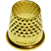 Lacis RQ62 13MM Open Top Tailor's Thimble, 13mm, Brown