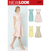 NEW LOOK Patterns Misses' Dresses A (8-10-12-14-16-18-20) 6447