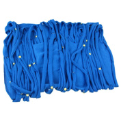Blue Multi Strip Golden Studded Ring Scarf Infinity