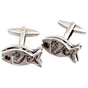 Men's Silver Tone Animals Novety Cufflinks