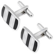 Business Men Clip Tie Bar & Cufflinks Set