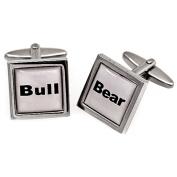Fashionable Stylish Printing Lettering Novelty Cufflinks
