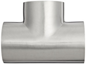 Dixon B7WWW-G250P Stainless Steel 304 Polished Fitting, Weld Short Tee, 5.1cm - 1.3cm Tube OD