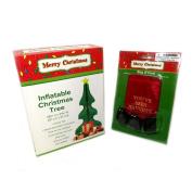 Inflatable Christmas Tree 120cm X 60cm with Bonus Bag of Coal