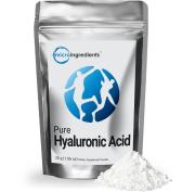 Pure Hyaluronic Acid (Sodium Hyaluronate) Powder (30g, 300 Servings) Vegan, Vegetarian | Micro Ingredients | Improve Joint Lubricant Flexibility | Skin Cellular Wrinkle Renewal
