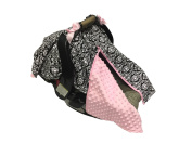 BayB Brand Car Seat Canopy - Black Floral with Pink