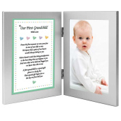 To Our First Grandchild With Love - Sweet Poem from Grandparents in Double Frame - Add Photo