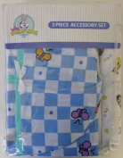 Baby Looney Tunes 3 Piece Garden Party Accessory Set - Crib Skirt, Flannel Receiving Blanket, Nappy Stacker