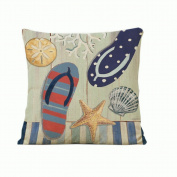 Beach Pattern Home Decorative Pillowcase Cushion Cover