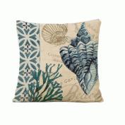 46cm *46cm Cotton Linen Pillow Cover marine life Oil Painting Home Decorative Pillowcase Cushion Cover