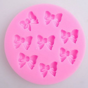 Yunko W0770 8 Mini Bows Silicone Mould Fondant Sugar Bow Craft Moulds DIY Cake Decorating
