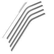 SipWell Extra Long Stainless Steel Drinking Straws Set of 4, Free Cleaning Brush Included. For Yeti, RTIC, SIC or other brand Tumblers. Fits 590ml & 890ml Tumbler Rambler Cup. SipWell Brand, NOT YETI.