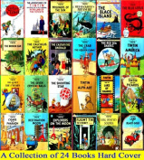 Tintin Comics Books Series Collection by Herge - Brand New 24 Hardcover Books