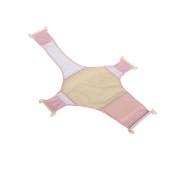 Infant Baby Adjustable Bath Seat Support Safety Cross Mesh Shower Net Mat(2 Colours) - Pink