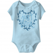 American Classics Just Born Blue Infant Baby Snapsuit Creeper Romper