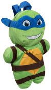 NINJA TURTLES LEONARDO PLUSH BACKPACK SOFT TOY RUCKSACK ZIP LUNCH SCHOOL CUDDLY