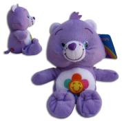 "Harmony Bear 16""/42cm' Super Soft Teddy Toy Care Bear Plush Blue Violet Smiling flower Serie TV"