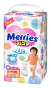 Japanese nappies panties Merries PBL (12-22 kg)// Японские подгузники Merries PBL
