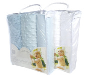 Set of 2 packs Moses baby Bedding set - Blue and White - OR - Pink and White