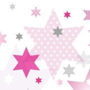 "Wallpaper Border Children ""Stars 4 Girls"" Pink/Grey"