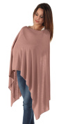 BambooMama Bamboo Breastfeeding Scarf - Dusty Pink - Discreet Nursing Cover And Scarf In One - The Ideal Gift For A New Mother