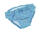 Fashy Little Stars Babies Frills Nappy Pants - Turquoise/White, Size 98/Size 104