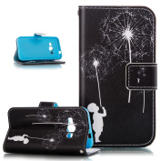 Galaxy J1 2016 Case,Galaxy J1 Case,Wallet Case for Samsung Galaxy J1 2016,ikasus Beautiful Art Painted Pattern Flip PU Leather Fold Wallet Pouch Case Premium Leather Wallet Flip Case with Stand Credit Card ID Holders Case Cover for Samsung Galaxy J1 (2 ..