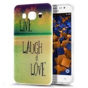 Galaxy J5 2016 Case,ikasus Scratch-Proof Ultra Thin Crystal Clear Rubber Gel TPU Soft Silicone Bumper Case Cover with Shockproof Protective Case for Samsung Galaxy J5 (2016),Live Laugh Love