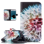 Galaxy S7 Case,Galaxy S7 Flip Wallet Case,ikasus Beautiful Art Painted Pattern Flip PU Leather Fold Wallet Pouch Case Premium Leather Wallet Flip Case with Stand Credit Card ID Holders Case Cover for Samsung Galaxy S7 (2016),Colourful Dandelion
