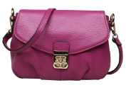 SAIERLONG New Womens Purple Cowhide Genuine Leather Cross Body Bags Shoulder Bags