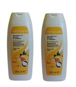 2 X Avon Naturals Apricot & Shea 2 in 1 Shampoo & Conditioner