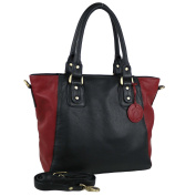 Ladies Leather Two-Tone Handbag Grab Bag by Hansson Nordic Blue Collection