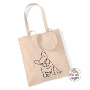 Pretty Little Stickers French Bulldog 100% Cotton Tote Bag Frenchie Gift Present