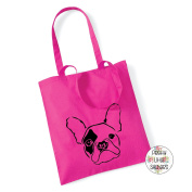 French Bulldog Face 100% Cotton Tote Bag Frenchie Gift Present