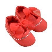 Lyshi Baby Girls Toddler Soft Sole Rhinestone Mary-jane First Walking Shoes