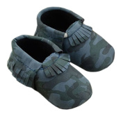 Lyshi Baby Infant Soft Sole First Walking Shoes Toddler Camouflage Sneakers
