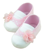 Lyshi Baby Girl Infant Flower Soft Sole Sneakers First Walking Shoes