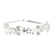 Topro Wedding Bride Bridesmaid Tiara Headband Faux Pearl Beaded