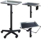 Service Trolley - Silver Style Polish - Colouring Hair Spa Tattoo Styling Dentist Salon Hairdresser Pet