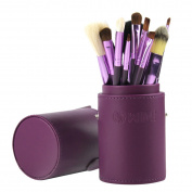 WIMI Make Up Brushes-12 pcs Professional Makeup Brushes Set, Cosmetic Brush Set + Make Up Brush Pot- Purple Make Up Brush Holder