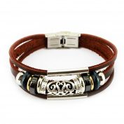 axy Series - 15cm - 5.1cm LAM Leather Bracelet Genuine Leather Bracelet in Surfer Style Leather Bracelet Men Women Jewellery.