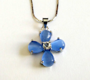 Womens Christian Orthodox Greek Religious Pendant Necklace with Crystal Cross / 26
