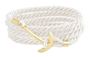 Geralin Gioielli Women 'S Anchor Bracelet in Gold Natural White Unisex Handmade