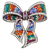 Butler and Wilson Large Multi Bow Brooch