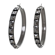 Women 'S Earrings Vintage Earring Hoops Gunmetal
