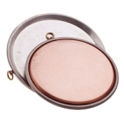 Agnelli For Hammered Farinata Conical Cake Tin-Plated Copper Baking Tray, Height 2 cm with Rim 42 cm Copper